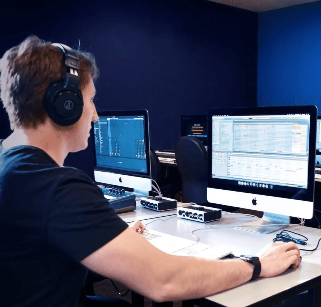 Centre for arts and technology digital music production student